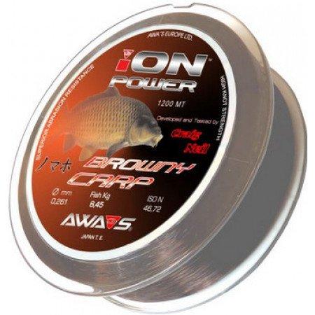 AWA-S silon ION POWER BROWNY CARP 1200m