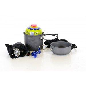MEVA Outdoor Set 2 - Varič, nádoby, príbor, kresadlo