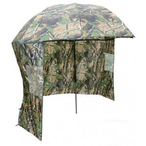 Dáždnik NGT Camo Brolly with Side Sheet 2,2m